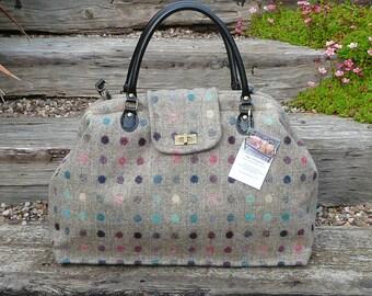 Overnight Bag, Mary Poppins Bag, Carpet bag, Bespoke Bag, Custom Order bag, luggage and Travel, Wool tweed bag