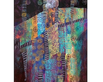 Quilt Art greeting card