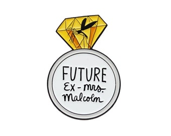 Future Ex-Mrs. Malcolm Jurassic Park Jeff Goldblum enamel lapel pin