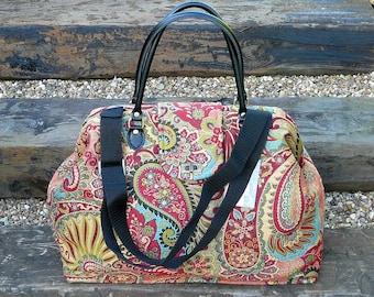 Carpet Bag, Mary Poppins Bag, Paisley Bag, Weekender Bag, Large Overnight Bag, Travel Bag, Hand Luggage, Cabin Luggage