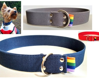 Stretchy Over The Head Elastic Dog Collar For Identification Tag/Disc