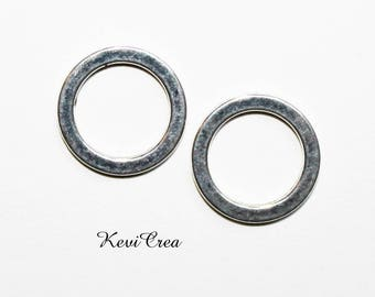 10 x 15mm silver plated closed rings