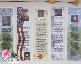 CUSTOM Laminated  - In Memory - Memorial - Bookmarks