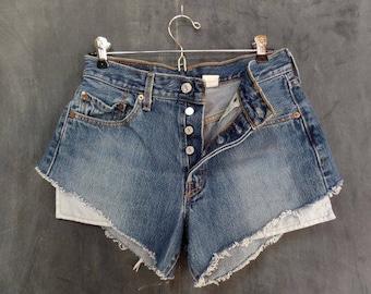 80s VTG 501 Cutoff Shorts Buttonfly Levis Jeans// Waist 29