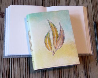 3 Feathers journal - new design - gifts for him and her - tremundo