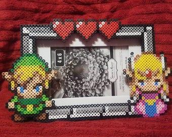 Link and Zelda picture frame
