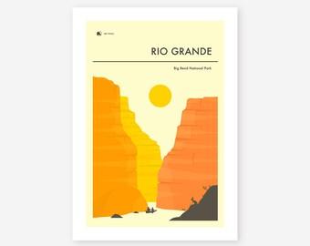 BIG BEND National Park (Giclée Fine Art Print/Photo Print/Poster Print) 'The Rio Grande' by Jazzberry Blue