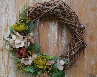 Spring door decor, Grapevine wreath, Fall wreath, Spring Wreath, Door Wreath, Wedding Wreath