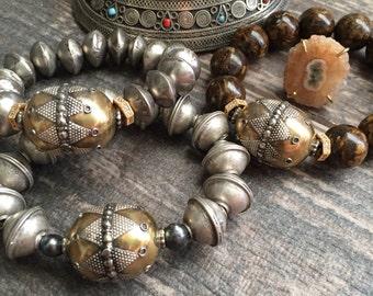 Ethnic Bracelet,Middle Eastern Bracelet,Tribal Braclet,African Bracelet,Tribal Bracelet,Turkmen Bracelet,Boho Style Braclet,Mixed Metal