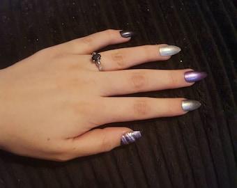 Custom False Stiletto Nails