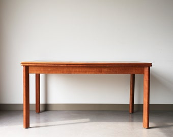 Sold *** Vintage Mid Century Danish Pullout Dining Table