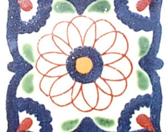 C#069))  Mexican Ceramic 4x4  inch Hand Made Tile