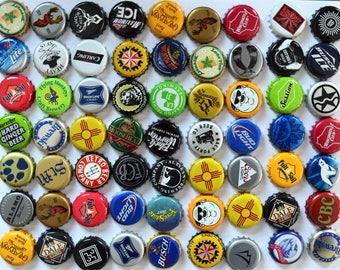 25 NO DENTS Assorted Beer Bottle Caps, Bottle Cap Lot for Craft Supplies, Beer Bottle Cap Assortment