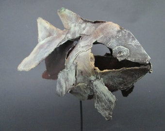 Veil tail, fish made of packaging material
