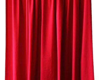 Elegant Cherry Red Velvet 84 inch Curtain Long Panels Custom Made Home Decor Living Room Bedroom Housewares Window Treatments Drapery/Linens