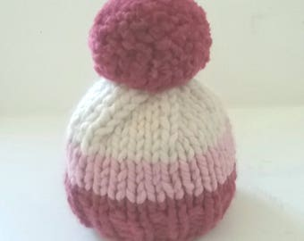 Chunky Knit Newborn Hat/Newborn Beanie/Knitted Newborn Hat/Knit Baby Hat/Baby Shower Gift
