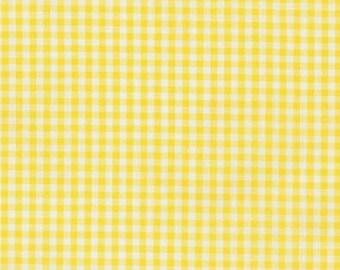 "Yellow 1/8"" Plaid Cotton, Carolina Gingham, Scarf Fabric, Yellow White Quilting fabric, Apparel Fabric,Plaid cotton Scarf,Robert Kaufman"