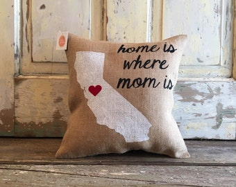 Pillow Cover | 'Home is Where Mom is' | Gifts for Mom | Mom pillow | Christmas Gift | Mom Christmas |