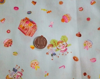 48cm Japanese Cotton Fabric Small Hansel Gretel 3 colors to choose