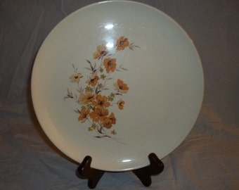 Vintage Wood Rose by Taylor, Smith and Taylor (TS&T) Dinner Plate Ever Yours Free Shipping to US