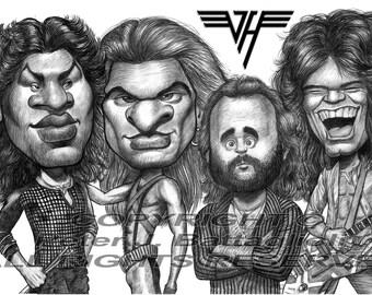 Van Halen Poster Caricature Art Print Limited Edition