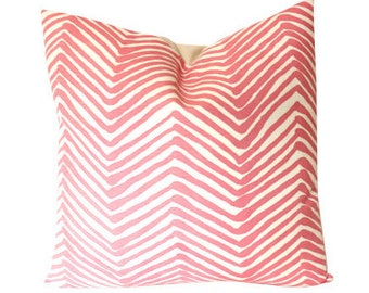 Alan Campbell Pink Zig Zag Pillow Cover