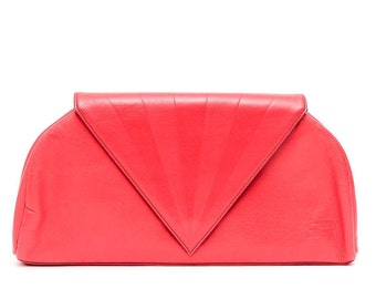 Vintage Sonia Rykiel clutch bag / rarered leather bag