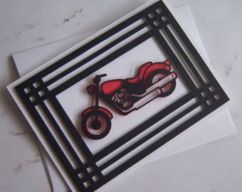 "Father's Day 3D Card ""Motorcycle"""