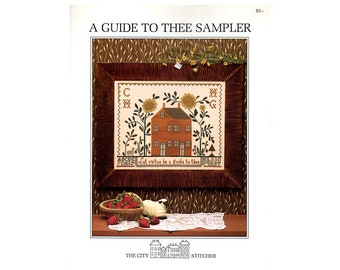 A Guide to Thee Cross Stitch Sampler, Sampler Cross Stitch Pattern, Samplers, Cross Stitch Sampler, Samplers, by NewYorkTreasures on Etsy