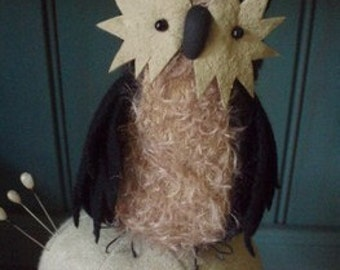 Primitive Folk Art Halloween Owl Moon Man E-PATTERN by cheswickcompany