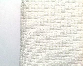 AIDA 6 Count Fabric. White Cross stitch fabric. Permin embroidery cotton. Made in Copenhagen. Per 10 cm of 130 cm wide