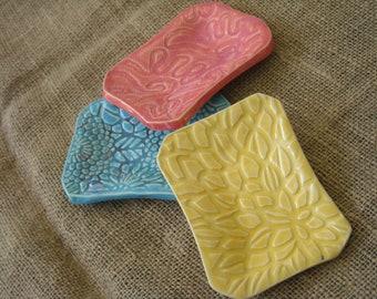 Soap Dish - Sushi Dish - Dresser Dish - Ring Dish - Bathroom Accessory - Snack Plate -Small Decorative Dish - Ceramic Dish -Handmade Pottery
