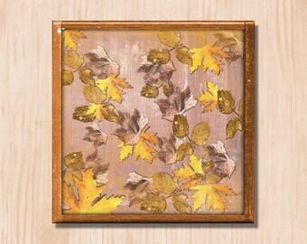 Autumn Gold - Instant Downloadable Art Print Digital Wall Art Printable Nature Floral Art Home Decor