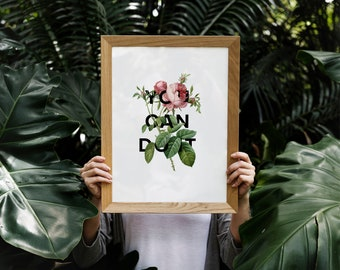 You Can Do It - Floral Collage A4/A3 Print