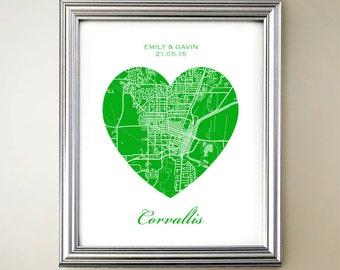 Corvallis Heart Map