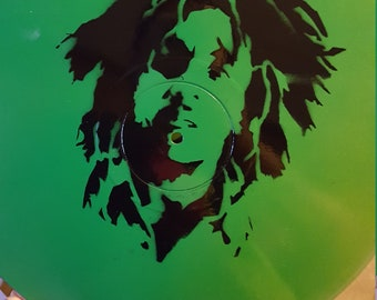Bob Marley Vinyl Record Painting
