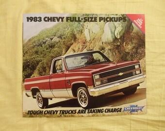 Chevrolet Full Size Pickups 1983 Original Sales Brochure