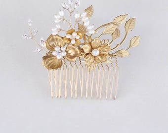 Bridal Hair Comb Wedding Hair Comb Accessories Headpiece Hair Jewelry Flower Pearl Embellished Cocktail Accessories