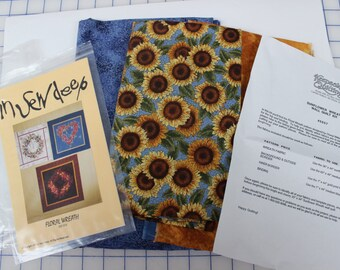 Cotton Patchwork Sunflower Wreath Wall Quilt Kit