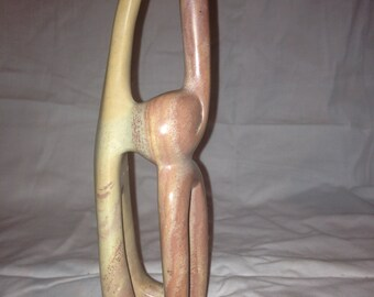 Soapstone Hand Carved Abstract Figurine