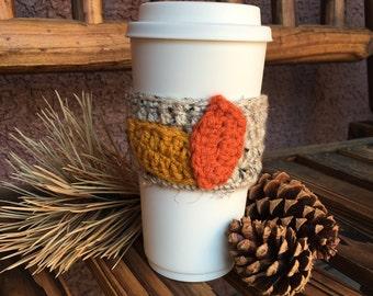 Fall Leaves Coffee Cozy