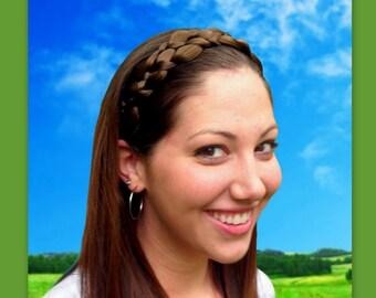 wedding bridal hair band hair braided crown braid headband wide wedding hair piece diadem headband adult woman head band hairband hairpiece