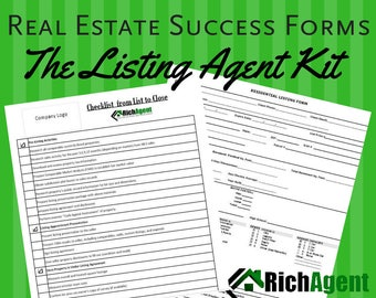 The Real Estate Listing Set - Black | Realtor | Real Estate Agent Planner | Real Estate Marketing | Real Estate Listing Agent