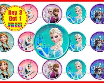 Disney Frozen Bottle Cap Images - Frozen Bottle Cap Images - Instant Download - High Resolution Images - Buy 3, Get 1 FREE