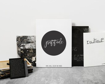 Gratitude Print- Inspirational Print