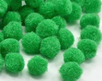 X 10 tassels grass green 10mm without hook