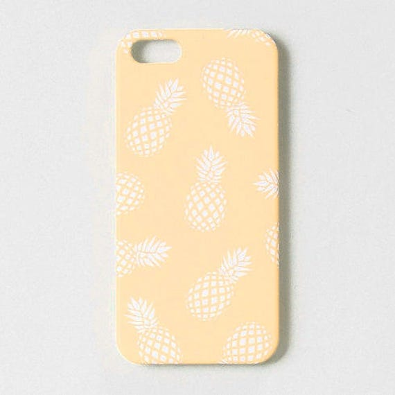 FUNDA PIÑAS amarilla • funda iPhone 8, carcasa iPhone 7, funda iPhone 6, carcasa iPhone 6S, funda 5S case, funda iPhone SE, funda tropical