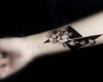 tattoo temporary tattoo flower