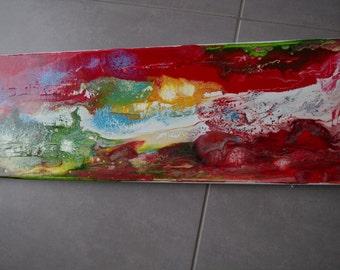 Contemporary mixed media abstract painting