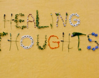 HEALING THOUGHTS greeting card